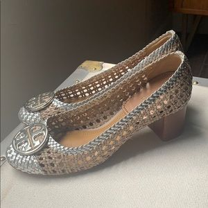 Tory Burch Chelsea Woven Cap Toe Pump - worn once